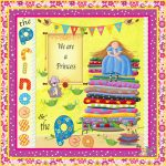 Princess and the Pea 18x18 Pillow or Craft Panel
